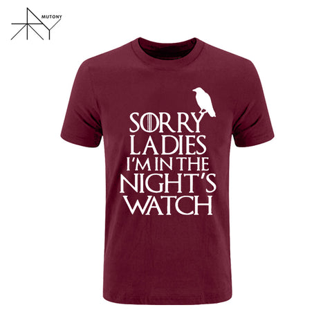 Games Of Thrones - Sorry Ladies I'm in the Night's Watch T-Shirt