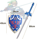 The Legend of Zelda Link Cosplay Master Sword and Master Shield