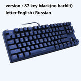 LED Backlit Mechanical Gaming USB Keyboard Computer Gaming Keyboard with Cool 6 Colors Light for PC or Mac
