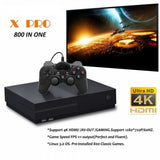 X-Pro UHD Video Game Console with 800 Games Built-In - Black