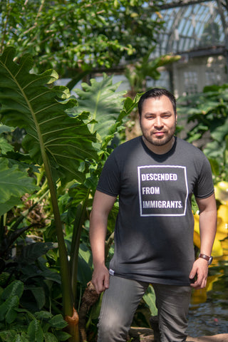 Descended From Immigrants - Black Unisex Crewneck Shirt