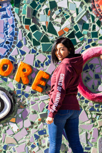 Child of Immigrants - Maroon Zip Hoodie