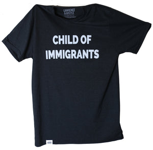 Child of Immigrants - Black Unisex Crewneck Shirt