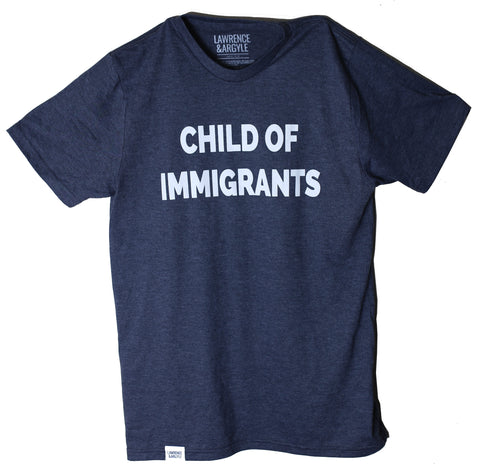 Child of Immigrants - Heather Navy Unisex Crewneck Shirt