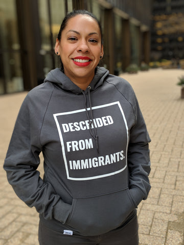 Descended From Immigrants - Slate Unisex Pullover Hoodie