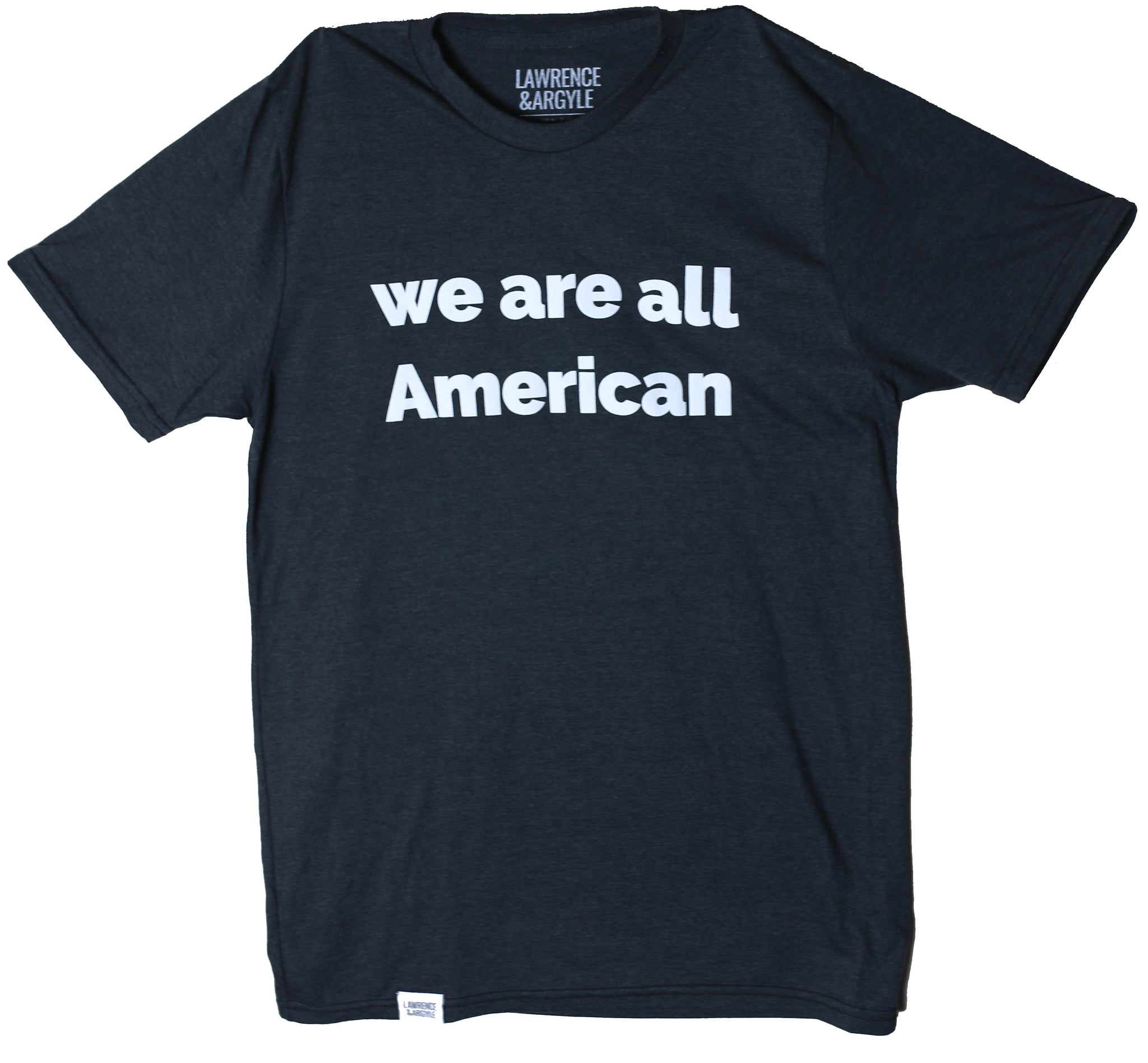 We Are All American - Black Unisex Crewneck Shirt
