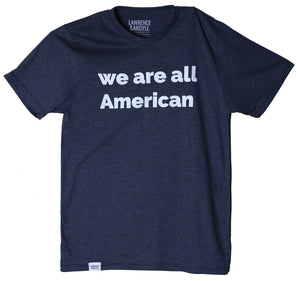 We Are All American - Heather Navy Unisex Crewneck Shirt