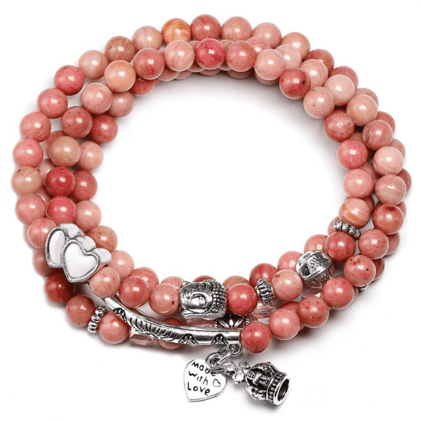 Mala rhodochrosite made with love