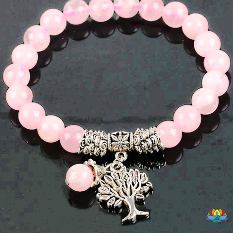 Bracelet Tendresse En Quartz Rose Pierre Naturelle Quartz Rose