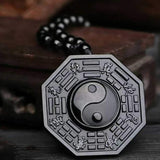 Collier de protection Yin Yang en Obsidienne