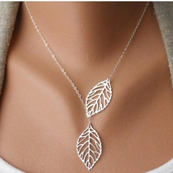Collier Feuilles dargent