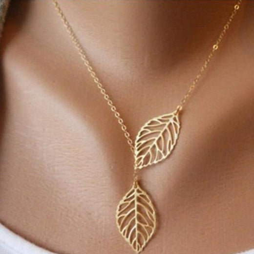Collier Feuilles Dargent Or