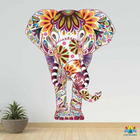 Sticker mural Couleur éléphant coloré elephant mural sticker
