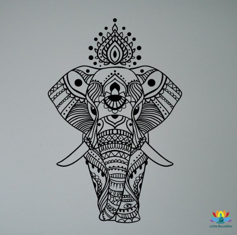 Sticker Mural Éléphant Dasie Elephant Sticker