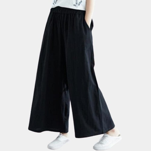 Yasmine Cotton Relaxed Pants