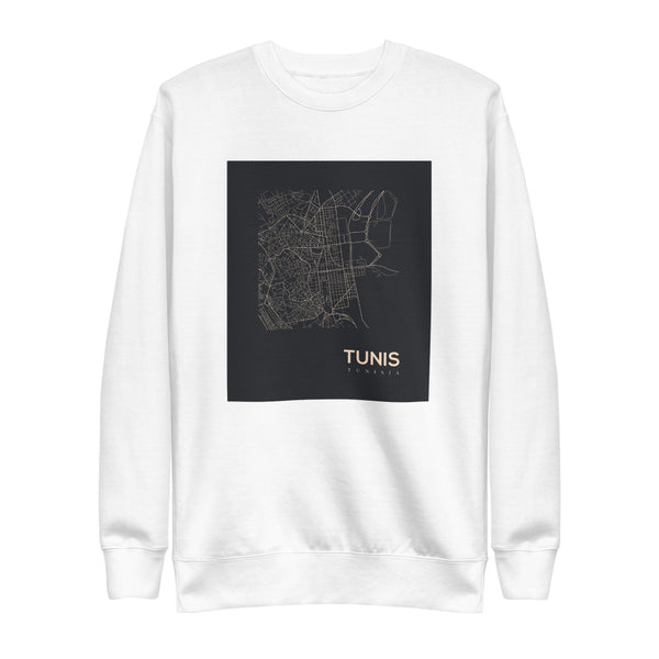 Tunis Cartographer Noir Fleece Pullover