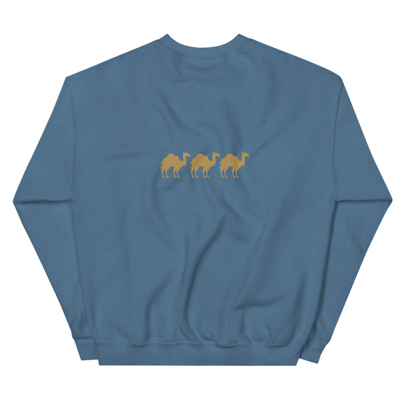 Three Camels Back Printed Crewneck Pull-over