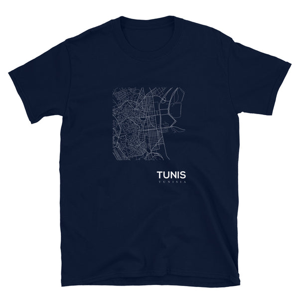 Tunis Blanc Cartographer Short-Sleeve Tee