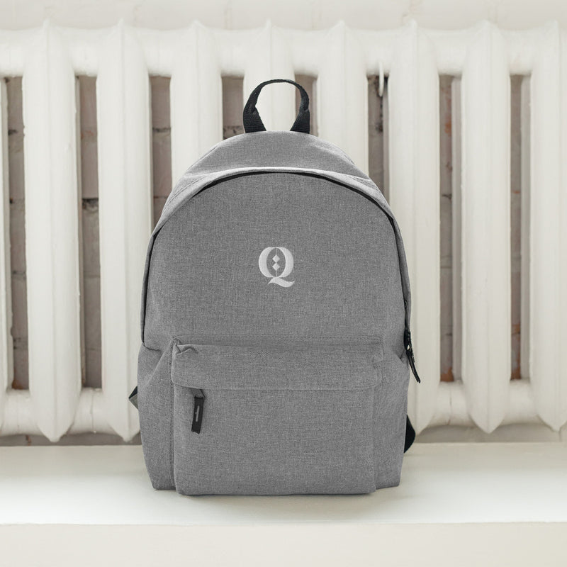 Q Embroidered Backpack