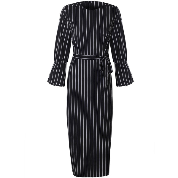 Dubai Striped Spring Abaya