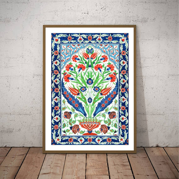Ottoman Floral Poster