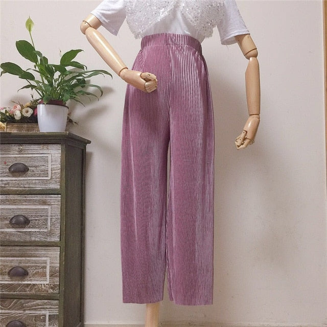 Wide Pleated Pants