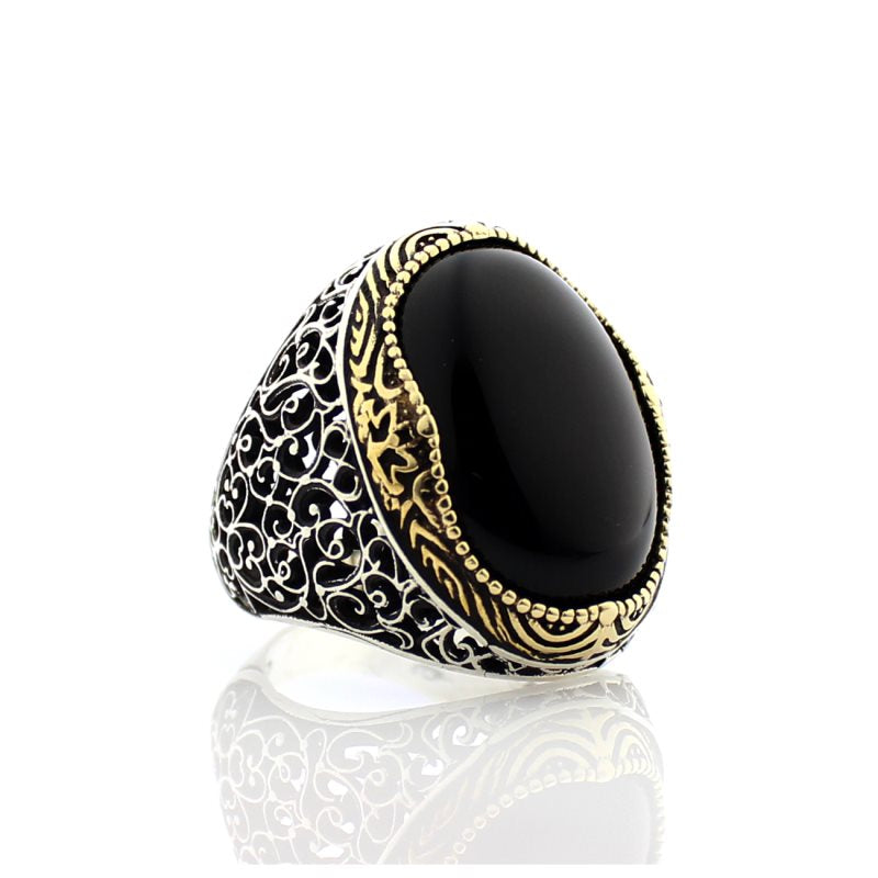 Al Wazir Black Stone Ring