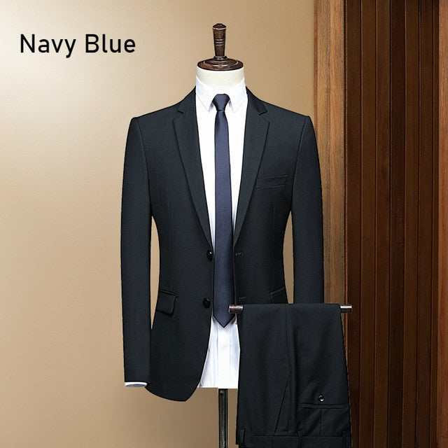 Men's Fitted Evening Suit