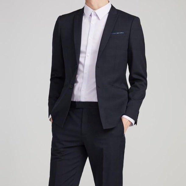 Men's Slim Fit Sheep Wool Business Casual Blazer