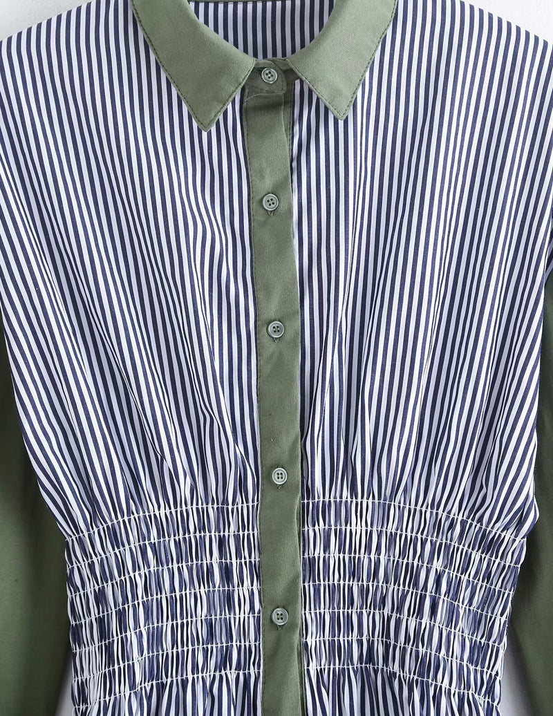Fez Lined Collared Blouse