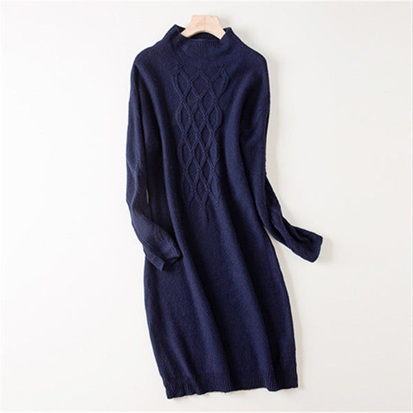 Cashmere Wool Sweater Dress