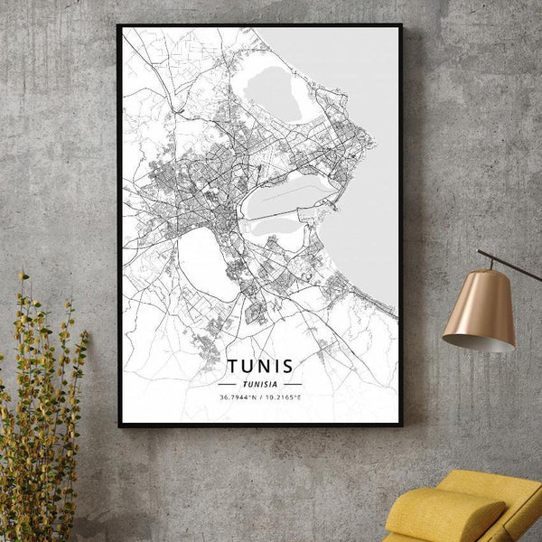 Tunis Sky-view Poster