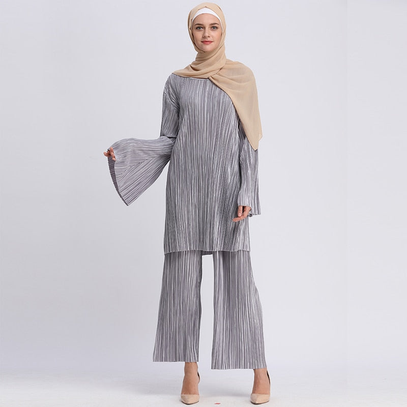 Pleated Evening Ensemble