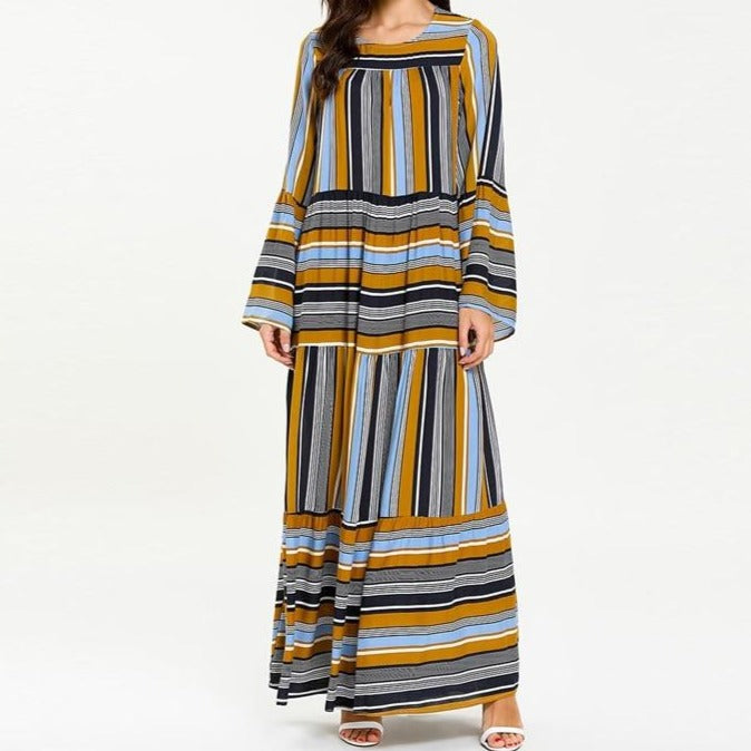 Sahara Striped Abaya