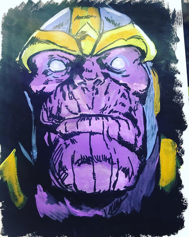 Thanos painting by zero