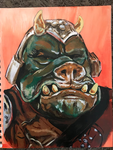 Pig guard painting by zero