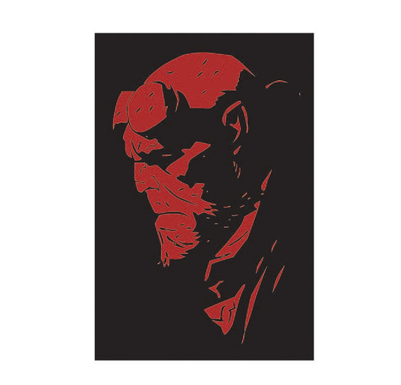 hellboy head vinyl decal
