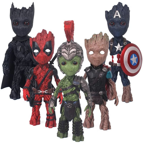 Baby Groot hero figures