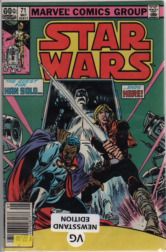 Marvel comics Star Wars 71 VG