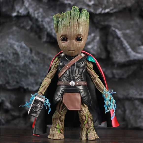 Baby groot as Thor