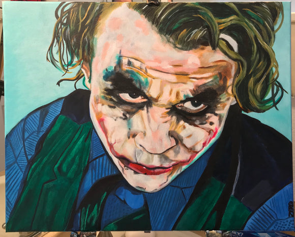 Jail cell joker oil painting by Zero the painter