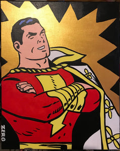 Shazam the original captain marvel painting by Zero the painter