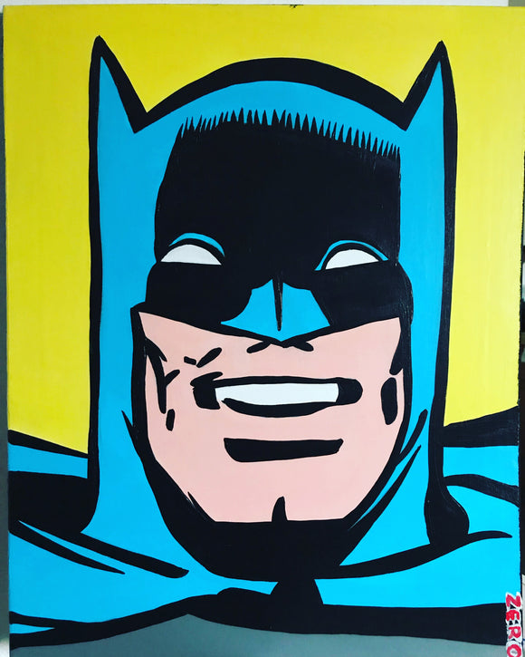 Silver age batman painting by Zero the painter