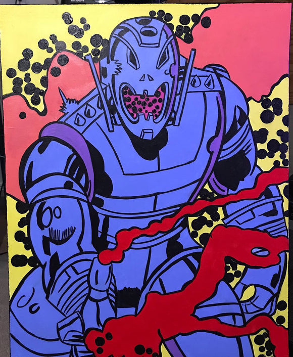 The power of Ultron painting by Zero the painter