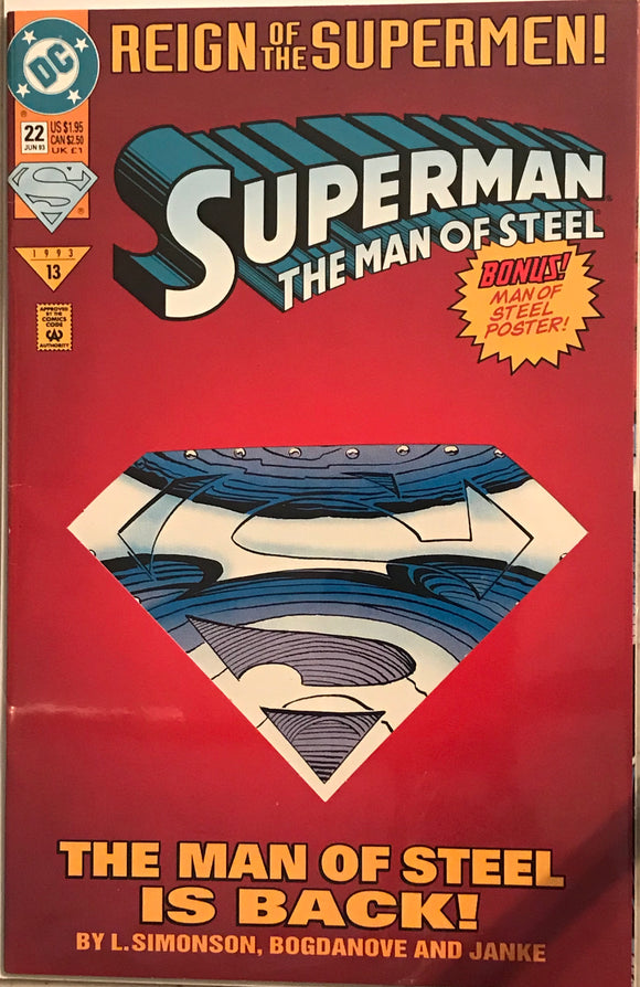 Reign of the super men - Superman the man of steel 22 diecut cover