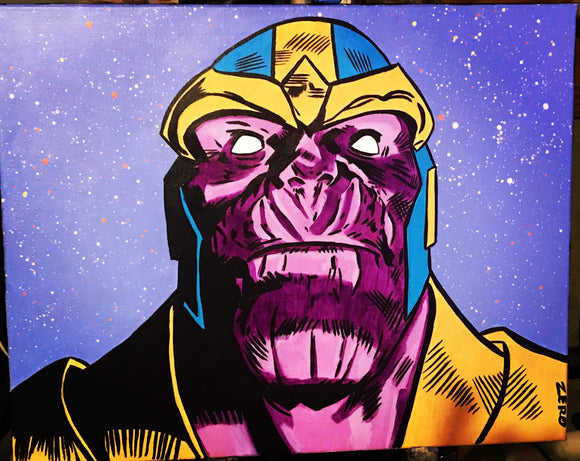 Thanos sees all painting by Zero the painter