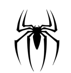 Spiderman spider vinyl decal 6 Inch