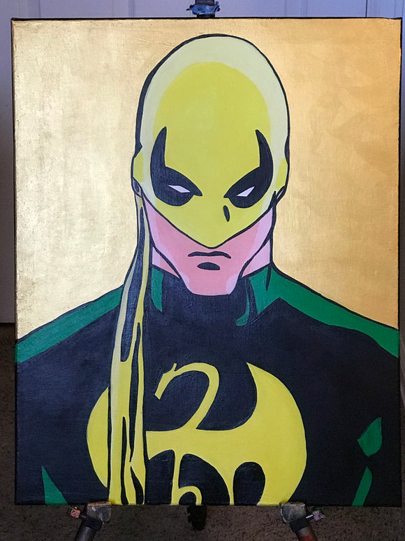 Iron fist painting by Zero the painter