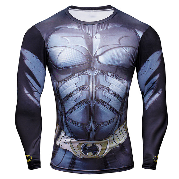 Superhero Comics Mens Style Long T shirt