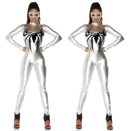 Silver Jumpsuit Spiderman Costume
